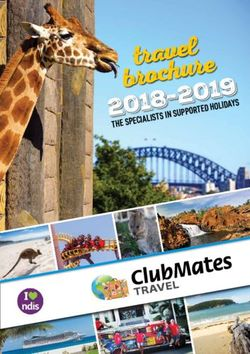 ClubMates Travel Brochure 2018-2019