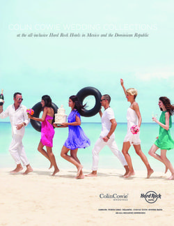 COLIN COWIE WEDDING COLLECTIONS - at the all-inclusive Hard Rock Hotels in Mexico and the Dominican Republic