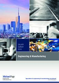 Engineering & Manufacturing - SALARY SURVEY 2016 - Michael Page