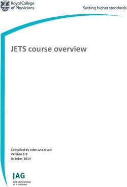 JETS course overview Compiled by John Anderson Version 9.0 October 2014