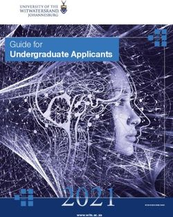 Guide for Undergraduate Applicants 2021 - UNIVERSITY OF THE WITWATERSRAND, JOHANNESBURG