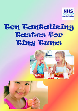 Ten Tantalizing Tastes for Tiny Tums