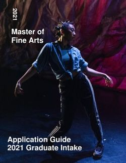 Master of Fine Arts - Application Guide 2021 Graduate Intake - National Institute of Dramatic Art
