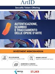 INVESTMENT MEMORANDUM - Security Token Offering - SALVAGUARDARE il valore di ...