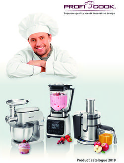 ProfiCook - Products Catalogue 2019