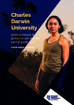 Charles Darwin University - Undergraduate & postgraduate degrees course guide 2021