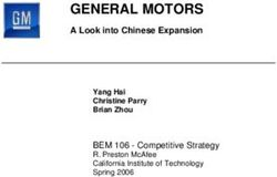 GENERAL MOTORS - A Look into Chinese Expansion