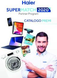 CATALOGO PREMI - Supermatch Haier
