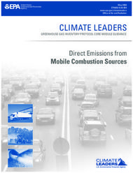 CLIMATE LEADERS - Direct Emissions from Mobile Combustion Sources