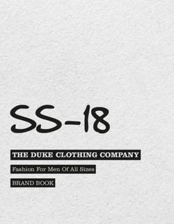 THE DUKE CLOTHING COMPANY - Fashion For Men Of All Sizes - SS-18 2018