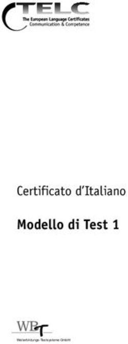 Emilio Porcaro Il Test di conoscenza della lingua italiana