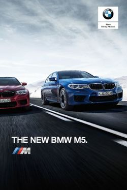 THE NEW BMW M5. 2018