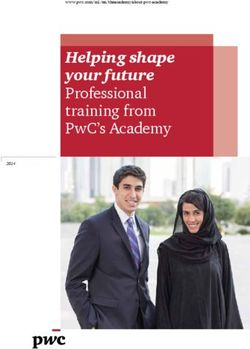 Helping shape your future Professional training from PwC's Academy