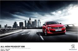 ALL-NEW PEUGEOT 508 - PRICES, EQUIPMENT AND TECHNICAL SPECIFICATIONS Version 1- May 2018 Model Year 2018