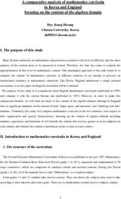 A comparative analysis of mathematics curricula in Korea and England focusing on the content of the algebra domain