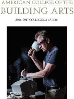 American College of the Building Arts 2016-2017 Catalog