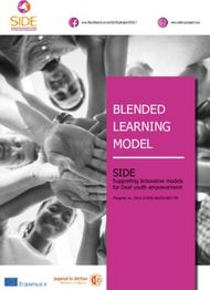 BLENDED LEARNING MODEL - SIDE Supporting Innovative models for Deaf youth ...