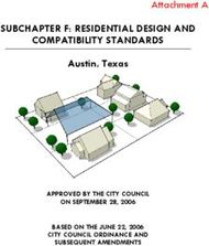 Attachment A - SUBCHAPTER F: RESIDENTIAL DESIGN