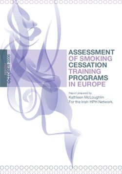 ASSESSMENT OF SMOKING CESSATION TRAINING PROGRAMS IN EUROPE