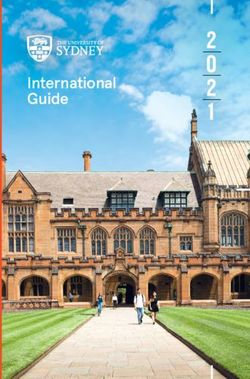 THE UNIVERSITY OF SYDNEY - International Guide 2021