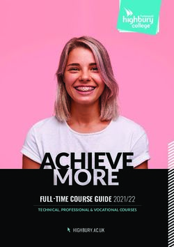 HIGHBURY COLLEGE - FULL-TIME COURSE GUIDE 2021/22 - TECHNICAL, PROFESSIONAL & VOCATIONAL COURSES