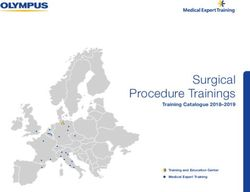 Surgical Procedure Trainings Catalogue 2018-2019