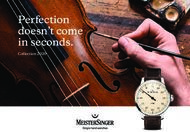 Perfection doesn't come in seconds - Collection 2020 - MeisterSinger