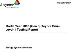 Model Year 2010 (Gen 3) Toyota Prius Level-1 Testing Report