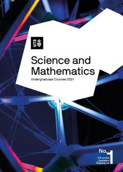 Science and Mathematics Undergraduate Courses 2021 - UTS