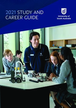 2021 STUDY AND CAREER GUIDE - University of South Australia